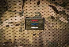 Russian tactical  flag lines embroidery patch
