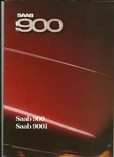 SAAB 900 (900 e 900i) vendite auto OPUSCOLO 1986