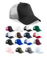 Half Mesh Trucker One Size Multi Colour Cotton Front Panel Peak Baseball Cap Hat