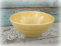 vintage yellow ware mixing bowl stoneware farmhouse kitchen