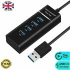 High Speed Multi 4 Port USB HUB 3.0 & 2.0 Adapter Splitter Expansion PC Laptop