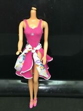 1984 Superstar Barbie B Active Fashions Outfit #7915 Pink Leotard Skirt & Shoes