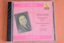 Schubert - Winterreise D 911 - Paul Ulanowsky - Lotte Lehmann - CD Vocal Archive