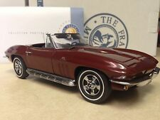 1/24 Franklin Mint Milano Maroon 1966 Corvette 427 Convertible S11G232 #321