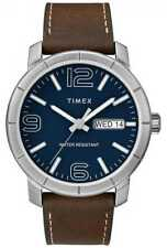 Timex Mens Mod 44 Brown Leather Strap Blue Dial TW2R64200 Watch