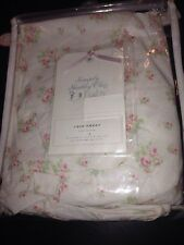 Simply Shabby Chic fitted crib sheet baby NURSERY bed Rose Cottage Floral Pink