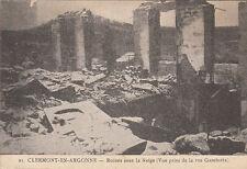 CLERMONT-EN-ARGONNE MEUSE GUERRE 14-18 WW1 21 ruines sous la neige écrite 1915
