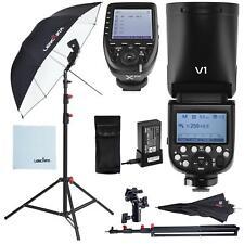Godox V1 Flash Strobe Lighting Kit with Stand Umbrella and XPRO Canon