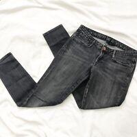 Earnest Sewn Black Skinny Denim Jeans Stretch Size 26 Excellent