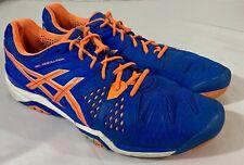 Asics Men's Gel-Resolution  Athletic Shoes Size 14 Multicolor Blue & Orange