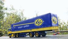"""ASG SPEDITION"" BUDGET 2-AXLE CANVAS TRAILER 1:18 for Scania Road Kings"