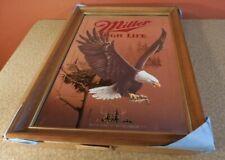 New listing Vintage Miller Beer Mirror Wildlife Series American Bald Eagle First Printing