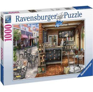 Ravensburger QUAINT CAFE Jigsaw Puzzle -1000 pc - Coffee Shop Cat FREE UK P&P