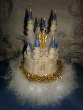 Castle cake topper Quinceanera XV/Sweet 16 center piece with gold Jasmine
