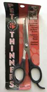 Pet Thinners Grooming Shears for Dogs & Cats Style #1004 *Worn Packaging* Black