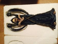 RARE Grim Reaper Twin Candlestick, Resin, Handpainted, Collectible - BNIB