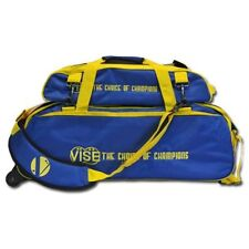 Vise Blue/Yellow 3 Ball Tote Bowling Bag With Shoe Pouch