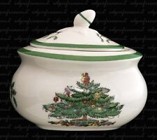 SPODE CHRISTMAS TREE COVERED SUGAR BOWL POT BOX