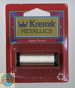 Kreinik Metallics - Japan Thread #1 (Super Fine) - Silver #001J