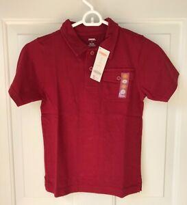 NWT Boys Gymboree Wine Burgandy Bordeaux Short Sleeve Cotton Polo Shirt, Size 6