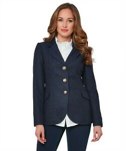 Joe Browns WJ326 Navy Herringbone Jacket Size 14