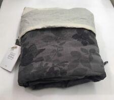 Restoration Hardware Garment-Dyed Floral Linen Duvet Twin Graphite $309