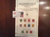 US Stamps Set 1923-1929 Rotary Press.scott# 595 to 606. See Description Below.