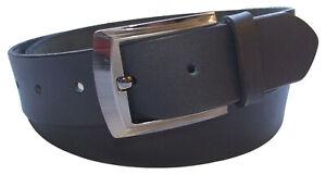 QHA Mens Belt Full Grain Leather Casual Waist Buckle Q52012
