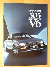 PEUGEOT 505 V6 Saloon brochure 1987 - Dutch market
