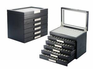 Look 1-3029-6 Black Design Wood Pencils Display Cases box Display For 60 Ink Pen