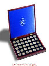 Estuche VOLTERRA UNO, para 35 monedas de 2€uros en cápsulas + 35 CAPSULAS 26mm.