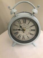 "NEW Vintage Style ABERENETHY & WEHDE. INC Decorative Clock Robin Egg Blue 8.5"" H"