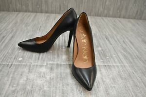 **Calvin Klein Brady Leather Pump, Women's Size 5, Black NEW