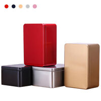 Candy Box Tea Cans Gift Boxes Metal Small Storage Box Tin Box Tinplate Square