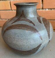 Nice Vintage 60s Studio Pottery Ceramic Stoneware Vase Mid Century Modern Signed
