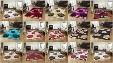 Imported High Quality Beautiful Stylish Rugs Modern Floral Pattern Soft & Thick