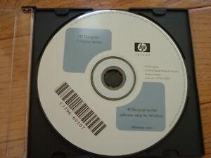 Original Windows StartUp disk for HP DesignJet 110 Plus Plotters.Drivers,Manuals