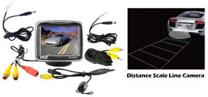 """Pyle Car Audio PLCM32 New 3.5"""" Tft Lcd Monitor With Universal Rear View Camera"""