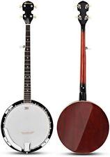 5 Saiten Banjo Banjo-Ukelele Holz Zupfinstrument Banjolele mit Stimmgerät