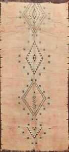 5x9 Antique Authentic Moroccan Hand-knotted Oriental Area Rug Vegetable Dye Wool