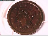 1851 Large Cent PCGS Genuine Damage - VG Details 33498198 Video