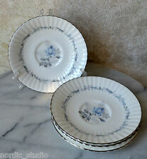 VTG Paragon MORNING ROSE set of 4 footed tea cup SAUCERS Plates, bone china