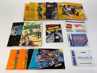 Lot Of 22 - Vintage Nintendo Game Manuals & Booklets N64, SNES, Gameboy