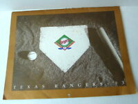 1972 1993 Calendar Texas Rangers Baseball Decker Dogs Arlington Stadium