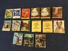 PINUP GIRL VINTAGE  MATCHBOOKS ADVERTISING BOOK MATCHES DORCHESTER NEB LOT of 15