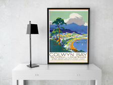 COLWYN BAY WALES VINTAGE TRAVEL POSTER PRINT GIFT CAFE WALL ART A4 SATIN PAPER