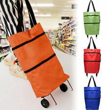 f814db5e6a Folding Shopping Trolley Grocery Shopper Bag Lightweight Foldable on wheels  2018