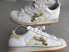Womens Rare Adidas Disney Goofy Shell Toe Superstar Trainers White Leatheruk4/36