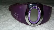 Womens ROOTS WR50M digital Wrist Watch purple no box needs batt