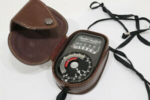 Vintage Weston Master II 735 Universal Exposure Meter w/ Leather Case Untested